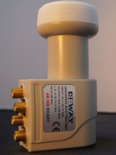 DI-WAY Quad LNB 0,1 dB Gold