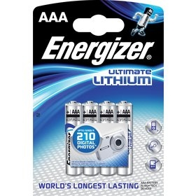 Ultimate Lithium FR03/4 4xAAA ENERGIZER