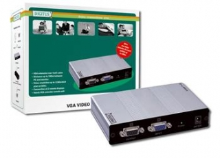DIGITUS VGA Video Extender and Splitter over Cat5 local, 2remote up to 180 m (CAT5, UTP) resolution 1280X1024 at 60Hz - DC-53501