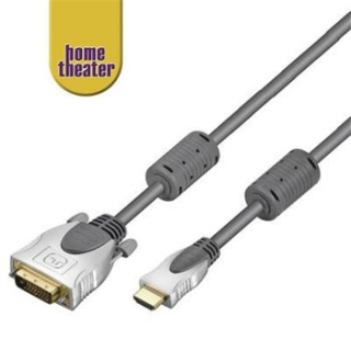 Home Theater HQ kabel HDMI male <> DVI-D male (24+1) single link 10m - HT 270-1000