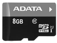 A-DATA 8GB SD paměťová karta SDHC class 10 micro