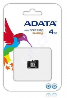 A-DATA 4GB SD paměťová karta micro SDHC class 4