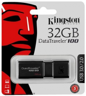 Kingston USB 3.0 32GB DataTraveler 100 G3 flashdisk