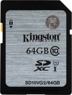 Kingston 64GB SD paměťová karta SDXC class 10