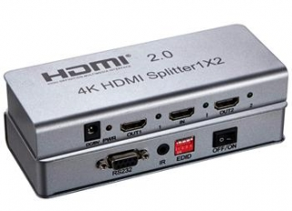 PremiumCord HDMI 2.0 splitter 1-2 porty, 4K x 2K/60Hz, FULL HD, 3D - khsplit2e