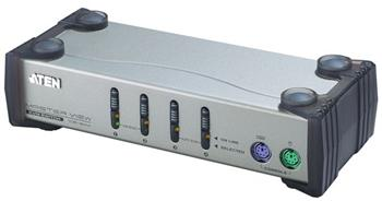 ATEN 4-port KVM PS/2 , 1.2m kabely - CS-84AC
