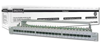 "DIGITUS Patch panel, Cat6A 19"" 24xSTP RJ45, 1U - DN-91624S-EA"